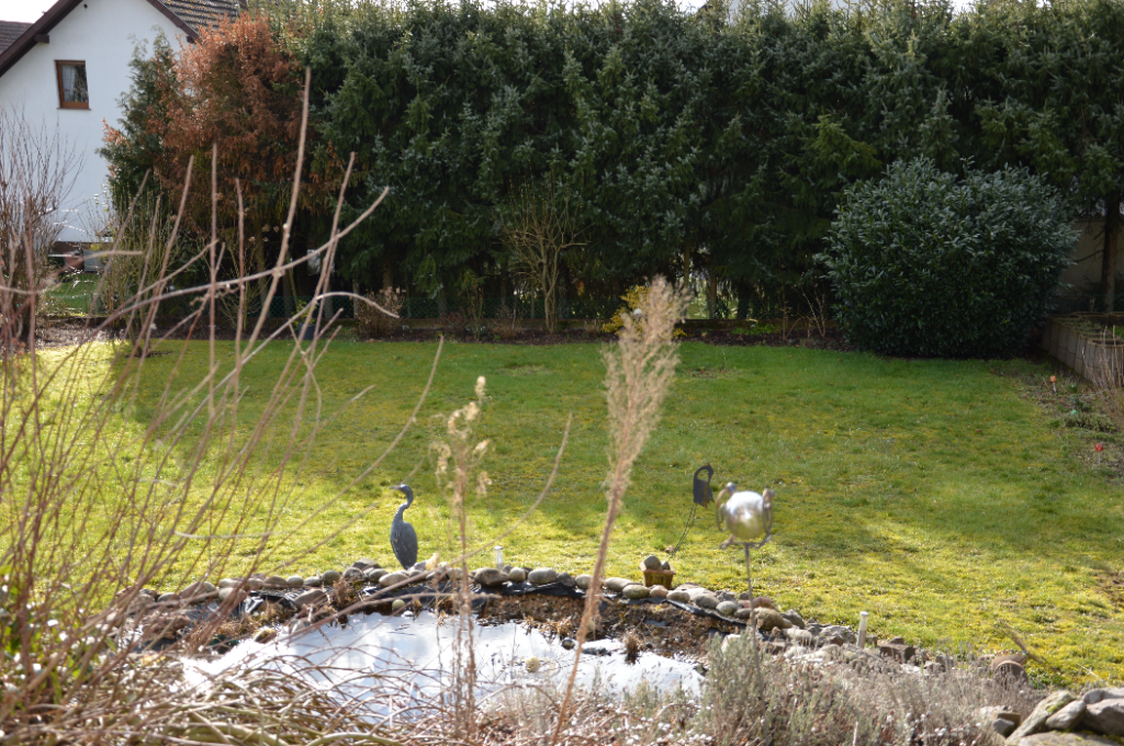 Blick auf Garten Ferienwohnung Haferweg 10 Beckingen
